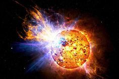 An artist's illustration of a flare star - CREDIT: Casey Reed-NASA