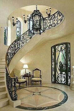 STUNNING ENTRYWAY | Amazing marble and metal foyer | bocadolobo.com/ #modernentryway #entrywayideas