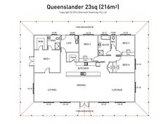 I would flip this plan and make it into a Queenslander style ...