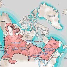 Hudson Bay Company Territory 1820 to 1871 Canadian Facts, Canadian Things, Canadian History, Aboriginal History, Aboriginal People, Aboriginal Art, Fur Trade, Global Village, O Canada