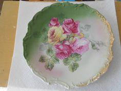 valentine SALE  ROSE VICTORIAN Plate Decorative Rose Plate Antique Home decor. $6.99, via Etsy.