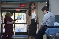 "THE NIGHT SHIFT -- ""Grace Under Fire"" -- Pictured: (l-r) Daniella Alonso as Dr. Landry de la Cruz, Freddy Rodriguez as Michael Ragosa -- (Photo by: Lewis Jacobs/NBC)"