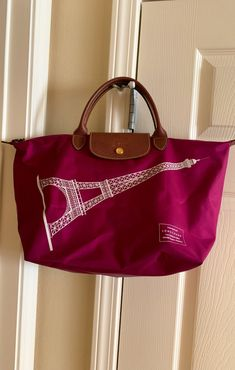 CA Fold Me Up Carry All Tote/_Burgandy Paisley