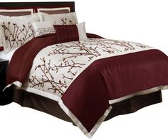 Burgundy Bed Spreads