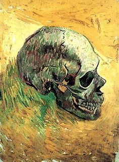 Skull (side view) 1887, Van Gogh