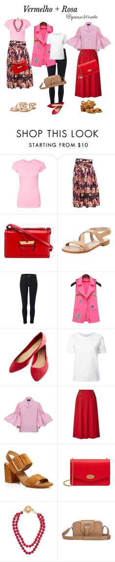 """""""Rosa+ vermelho"""" by fabiana-canegal ❤ liked on Polyvore featuring Marc Jacobs, Loewe, Firth, River Island, Wet Seal, Lemaire, N-DUO, Winser London, Stuart Weitzman and Mulberry"""