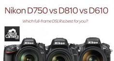 Nikon now has three full-frame DSLRs on the market - but which is the best one for you? We take a look at the key specs and differences between these three cameras in our Nikon vs Nikon vs Nikon comparison. Nikon Camera Lenses, Nikon Digital Camera, Nikon Cameras, Leica Camera, Canon Lens, Film Camera, Digital Slr, Camera Hacks, Camera Gear