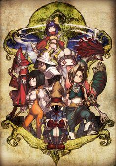 Homenaje al videojuego Final Fantasy IX por el dibujante Kouhei Horikoshi (Boku no Hero Academia).
