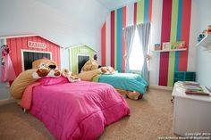 I wanted to created a bedroom for my son and daughter. So I created this fun dog room with bright colors and incredibeds. They love it and I love that they have a cool shared bedroom. Boy Girl Bedrooms  Boy/girl shared bedroom #sharedbedroom #dogbedroom #incredibeds #siblingbedroom
