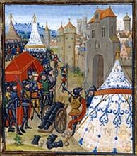 Edward III besieging Reims, from the Froissart Chronicles