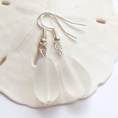 White Sea Glass Earrings,Sea Glass Jewelry,Seaglass Earrings,Seaglass Jewelry,Beach Glass Jewelry,Beach Glass Earrings,Beach.Free Shipping by ByDeeZyne on Etsy https://www.etsy.com/listing/205697413/white-sea-glass-earringssea-glass