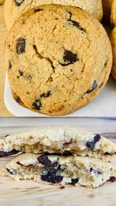 These healthier cookies are crisp on the outside and goey in the middle. They are gluten free and refined sugar free so they make a perfect simple dessert. Eat them warm right out of the oven, as an ice cream sandwich, or for a late night snack. Vegan Cookie Dough, Vegan Chocolate Chip Cookies, Simple Dessert, Healthy Cookies, How To Make Cookies, Easy Desserts, Sugar Free, Cookie Recipes, Breakfast Recipes