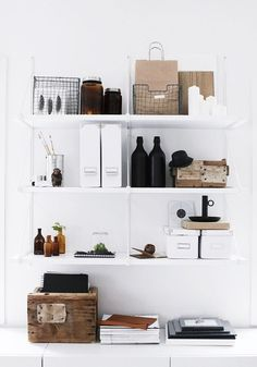 Creative Workspaces! love the collection of different accessories