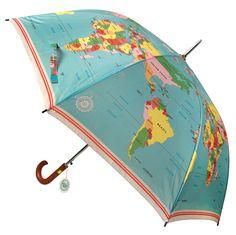 Vintage World Map Gentleman's Umbrella  