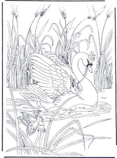Elvenpath Coloring Pages Detailed Coloring Pages, Bird Coloring Pages, Fairy Coloring, Printable Coloring Pages, Adult Coloring Pages, Coloring Sheets, Coloring Books, Bird Template, Fabric Painting