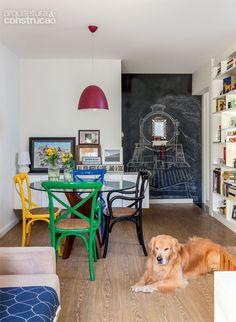 Apartamento pequeno: os 55 m² acomodam o casal e um cachorro grande