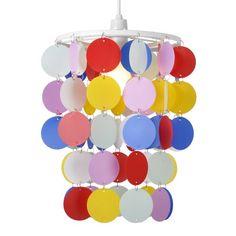Children's Bedroom/Nursery Multi Coloured Polka Dot Spots Ceiling Pendant Light Shade MiniSun http://www.amazon.co.uk/dp/B00A0K4D6M/ref=cm_sw_r_pi_dp_gXFcvb18AWQ2G