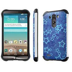 "Buy LG [G3] [5.5"" Screen] Phone Case [NakedShield] [White/Black] Dual Armor Protective - [Blue Stars] for LG [G3] 4G LTE [D855] NEW for 10.95 USD   Reusell"