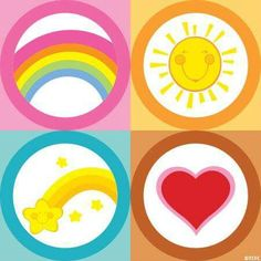 Care Bears Belly Badges …
