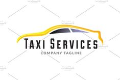Taxi Services Logo: They are fully editable and scalable without losing resolution. Design Taxi, Service Logo, Very Grateful, In This Moment, Logos, Templates, Yellow, Shop, Stencils