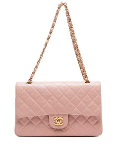 Chanel Pink Quilted Lambskin Medium Double Flap Bag
