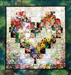 Heart In Bloom Watercolor Quilt Kit