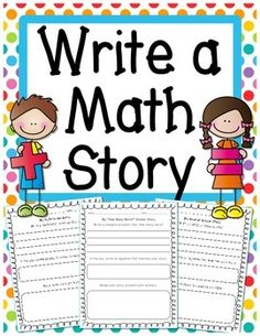 "Students can create their own addition and subtraction word problems on these printables.This packet also includes the option to write ""how many more?"" and ""how many fewer?"" stories. There are sticker story sheets as well as regular worksheets where students could model the problem without stickers."