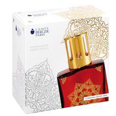 Coffret-cadeau Mille et une nuits. Lampe Capri rouge avec parfum Orange de Cannelle, 180ml + accessoires.