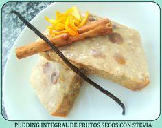 Pudding integral de frutos secos con Stevia (con video-receta