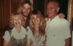 Stevie Nicks with her parents and brother