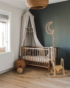 How gorgeous is this nursery by 👈🏻😍 Featuring the Ferm Living Braided Apple Basket, available online from our store 💫 . Baby Bedroom, Baby Room Decor, Nursery Room, Boy Room, Kids Bedroom, Nursery Decor, Nursery Ideas, Girl Nursery, Room Ideas