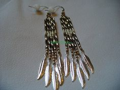 Native American Style Bronze and Silver Feathers by DebsVisions