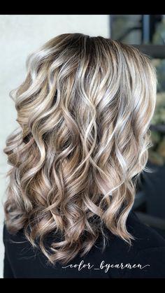 Blonde Brown Hair Color, Blonde Bayalage, Brown Hair With Highlights, Hair Color Balayage, Brown Hair Colors, Grey Hair, Low Lights Hair, Light Hair, Short Stacked Hair