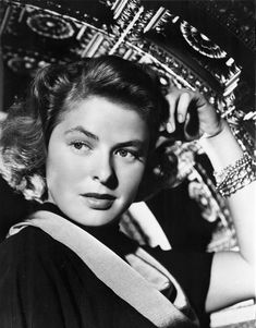 Ingrid Bergman sitting and Hand on Head Premium Art Print Female Actresses, Actors & Actresses, Vintage Hollywood, Classic Hollywood, Hand On Head, Ingrid Bergman, Olivia Newton John, Famous Women, Beautiful Celebrities