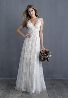 Wedding Dress by Allure Couture - Search our photo gallery for pictures of wedding dresses by Allure Couture. Find the perfect dress with recent Allure Couture photos. Multiway Bridesmaid Dress, Asos Wedding Dress, Western Wedding Dresses, Bohemian Wedding Dresses, Hippie Dresses, Dream Wedding Dresses, Bridal Dresses, Casual Lace Wedding Dress, Rustic Wedding Gowns