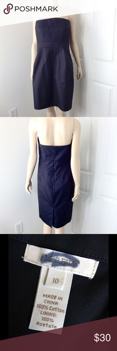 """J. Crew Black Tube Dress ✔️L fr. bust 32"""". Back zip closure. No rips, holes or stains. See materials on last photo. ✔️Bundle 3 listings and get automatic 20% discount. ✔️Same day shipping  ❌No trades or outside PM transactions ✔️ Questions Happy shopping J. Crew Dresses"""