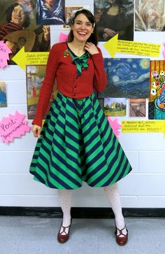 Christmas outfit for the teacher what the art teacher wore