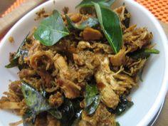 Pichi potta kozhi ( shredded chicken fry)
