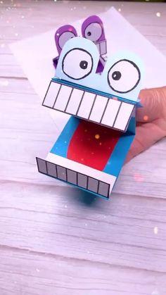 Paper Mache Crafts, Paper Crafts Origami, Fun Diy Crafts, Paper Crafts For Kids, Creative Crafts, Preschool Crafts, Craft Work For Kids, Diy For Kids, Diy Crafts Bookmarks