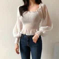 lace blouse / lace tunics for women / lace tops for women / eyelet blous. - lace blouse / lace tunics for women / lace tops for women / eyelet blous… – Products Source by - Ulzzang Fashion, Asian Fashion, Cute Korean Fashion, Boho Tops, Lace Tops, Lace Blouses, Stylish Outfits, Pretty Outfits, Moda Ulzzang
