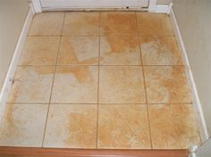 red mud stained tile