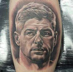 Soccer Tattoos, Sport Tattoos, Liverpool Tattoo, Liverpool Fc, Lfc Tattoo, Soccer Fans, Portrait, Pools, Football