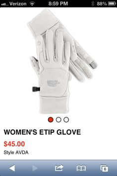 The North face etip women's gloves