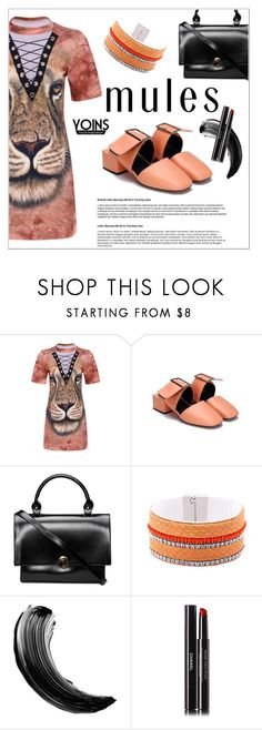 """Yoins"" by shambala-379 ❤ liked on Polyvore featuring Chanel, mules, yoins, yoinscollection and loveyoins"