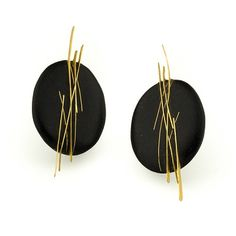 Andrea Williams at Patina Gallery. Earrings, Large Fringe Stud, 18K Yellow Gold