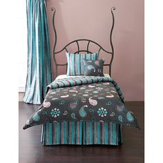 Any girl would love to have this colorful duvet set on her bed. With super-cool colors and a mod design, the set includes duvet cover, insert, pillow sham(s), and decorative pillow(s) to complete any teenager's private space.