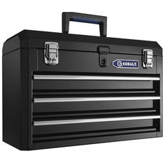 Kobalt Portable Black Steel Lockable Tool Box at Lowe's. Reinforced side walls and rich powder coated finish make this a durable tool box for Steel Tool Box, Portable Tool Box, Tool Box Storage, Camping Tools, Camping Equipment, Metal Tools, Cool House Designs, Home Improvement Projects, Craftsman