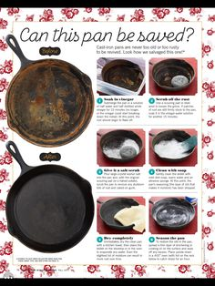 Cast iron from the pioneer woman fall 2017 read it on the texture app unlimited access to 200 top magazines Household Cleaning Tips, Cleaning Recipes, House Cleaning Tips, Cleaning Hacks, Cleaning Solutions, Deep Cleaning, Cleaning Supplies, Cast Iron Skillet Cooking, Iron Skillet Recipes