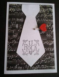 Happy Father's Day Tie Card U Rock Card by designsofexpressions