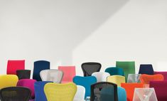 Mini Title — News — Carl Kleiner shoots Herman Miller Campaign Herman Miller, Rachel Thomas, Mini Chair, Creative Review, Complimentary Colors, Image Makers, World Of Color, Still Life Photography, Innovation Design